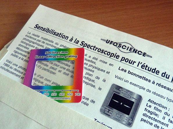 Bonnettes à réseau de diffraction - Stock renouvelé Ufo-science-bonnettes500